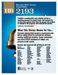 2011 House Bill 2193 - AAR Summary