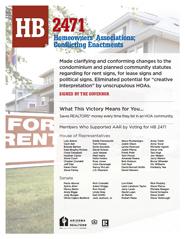 2012 House Bill 2471 - AAR Summary