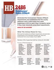 2012 House Bill 2486 - AAR Summary