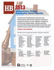 2012 House Bill 2513 - AAR Summary