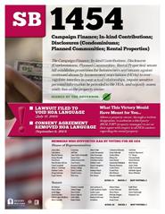 2013 Senate Bill 1454 - AAR Summary