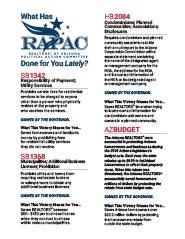 What has RAPAC done for you lately