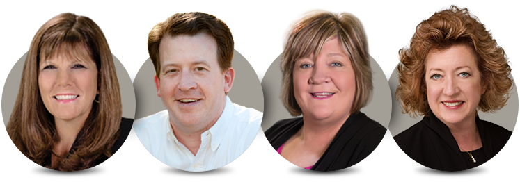 Arizona REALTORS® 2018 Line Officers: Lori Doerfler, D. Patrick Lewis, Mary Roberts, Jan Leighton