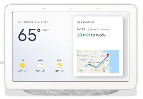 Google Nest Hub provides help at a glance.